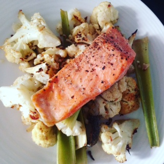 Spicy Roasted Cauliflower with Salmon – Paleo Thermie by Emily ...